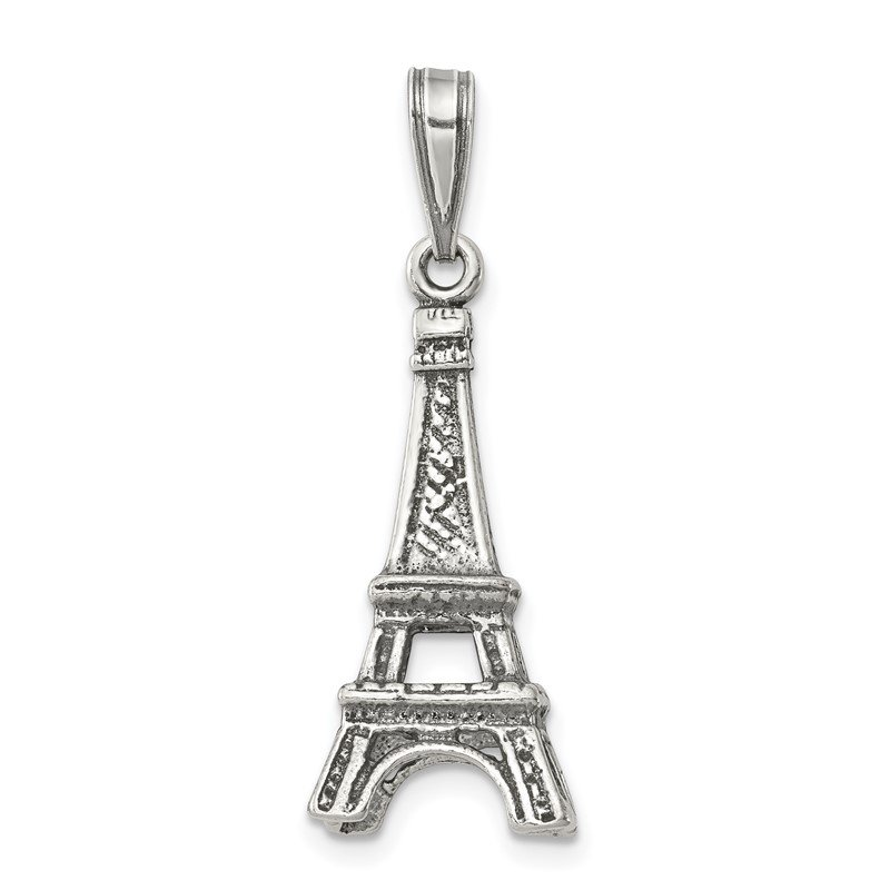 Quality Gold Sterling Silver Eiffel Tower Pendant