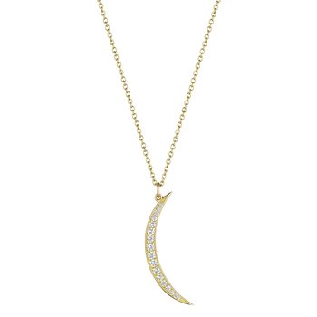 Vertical Crescent Necklace