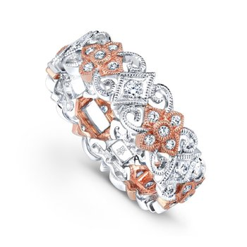 Two-Tone Diamond Flower Band