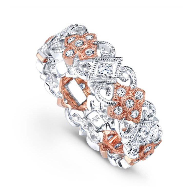 Beverley K Two-Tone Diamond Flower Band