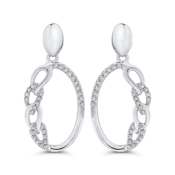 1/5 ct White Diamond Gold Fashion Earrings