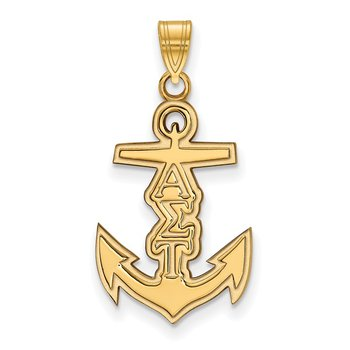 Gold-Plated Sterling Silver Alpha Sigma Tau Greek Life Pendant