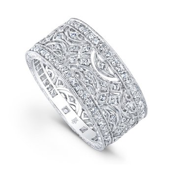 Cross & Half Moon Diamond Band