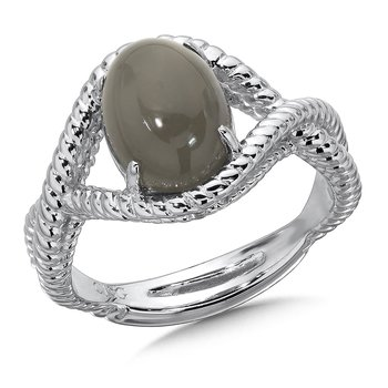 Sterling Silver Grey Moonstone Essentials Ring