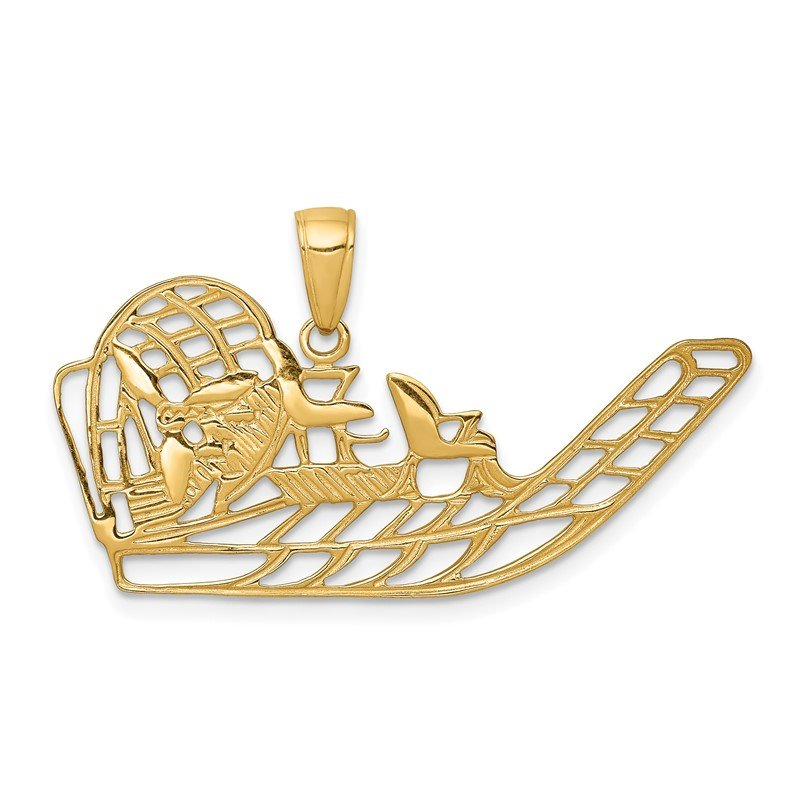 Quality Gold 14k Air Boat Pendant