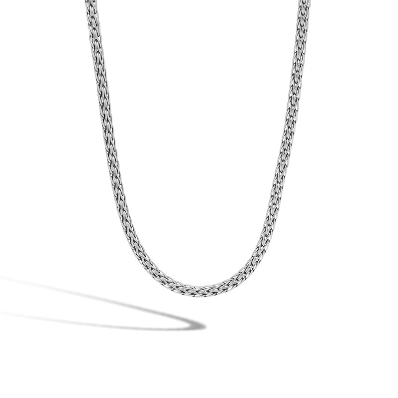 JOHN HARDY Classic Chain 3.5MM Woven Necklace in Silver