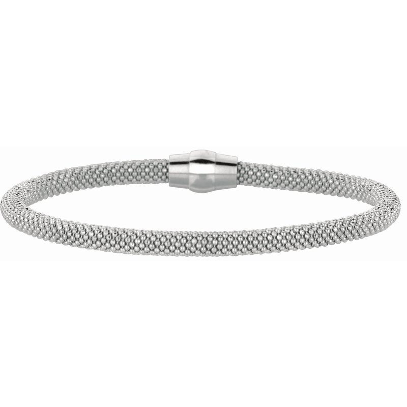 Royal Chain Silver Magnetic Clasp Popcorn Bangle
