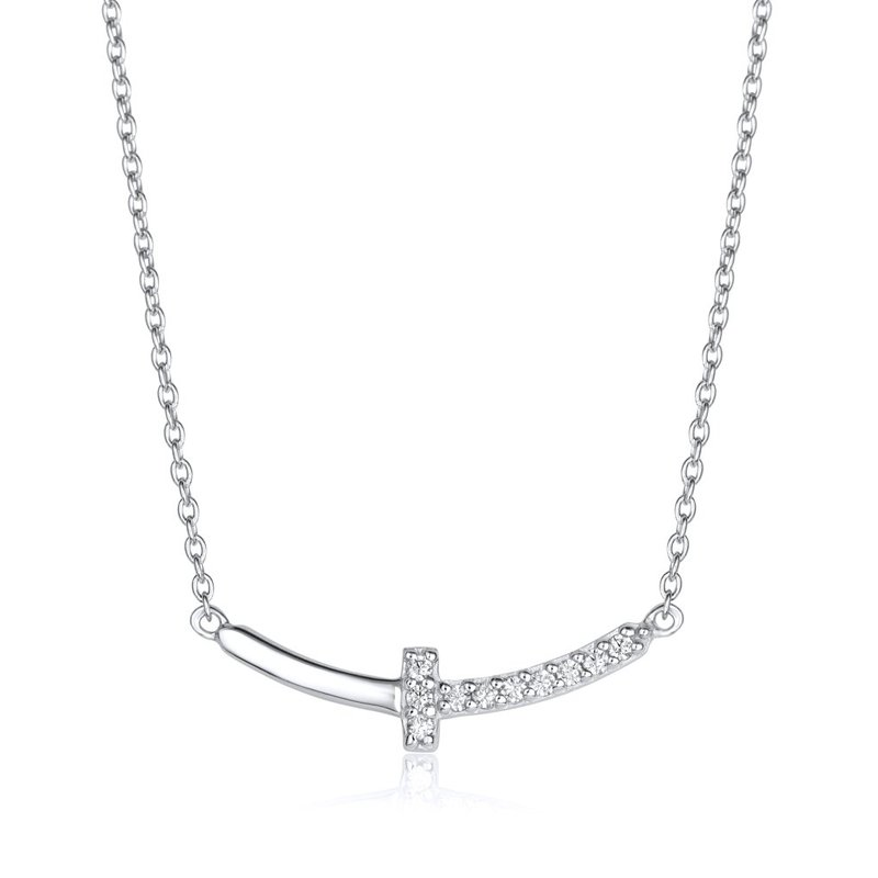 LARUS Jewelry Cross Bar Necklace