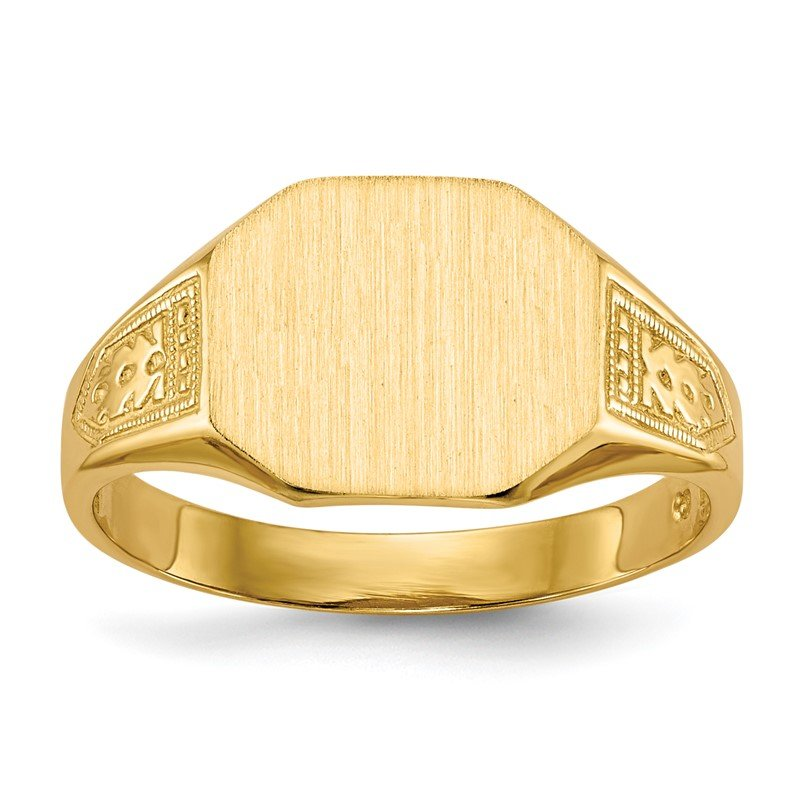 Quality Gold 14k 9.0x11.0mm Open Back Signet Ring