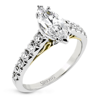 LP2356-MQ ENGAGEMENT RING