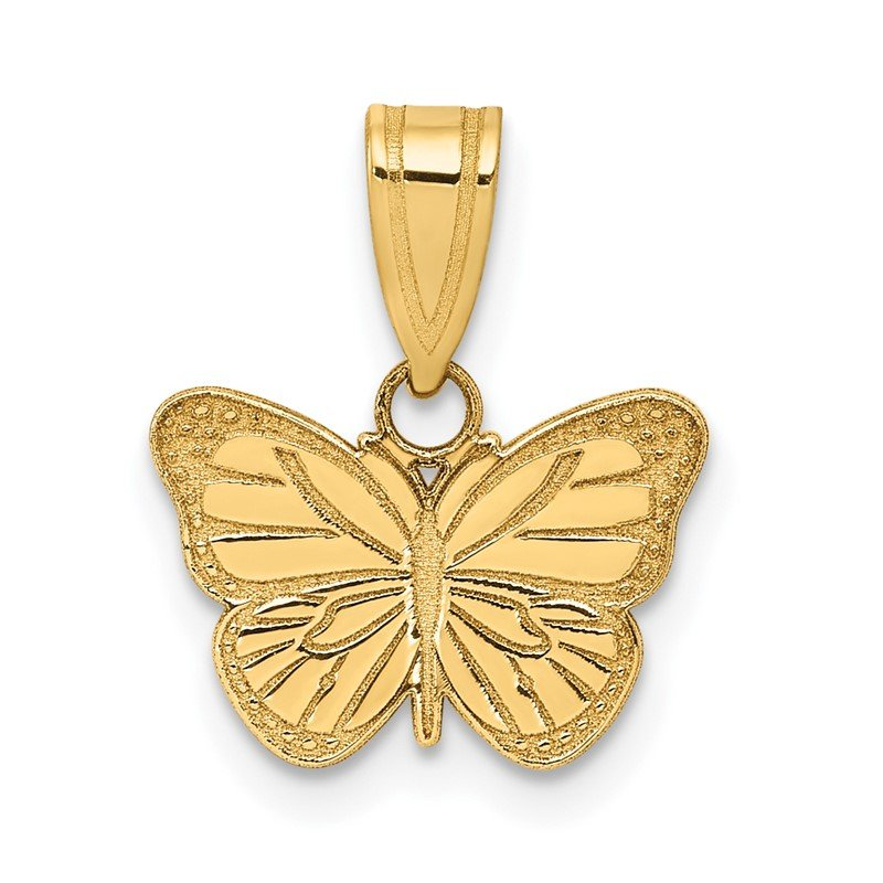 Quality Gold 14k Laser Cut Butterfly Charm