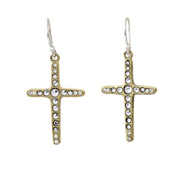 Amor Fati Single Cross Earrings