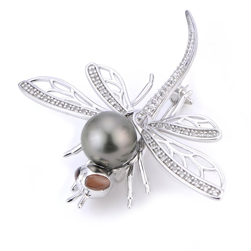 Imperial Pearl Sterling Silver Tahitian Pearl Pin