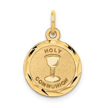 14k Holy Communion Disc Charm