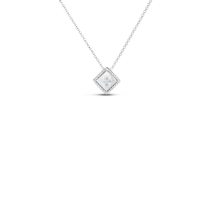 Roberto Coin 18K PALAZZO DUCALE DIAMOND ACCENT SATIN SMALL PENDANT
