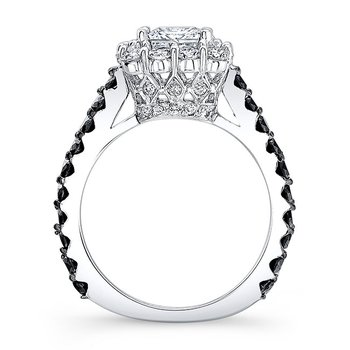 Black Diamond Princess Cut Ring