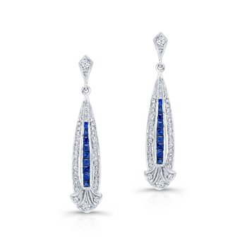 Vintage Sapphire and Diamond Dangles