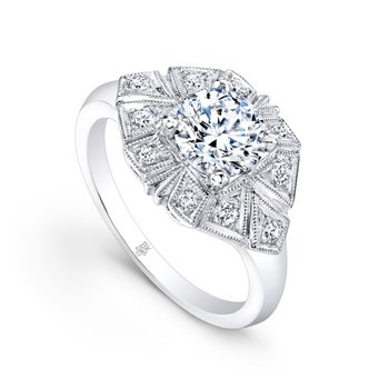 Diamond Engagement Ring - Vintage Style