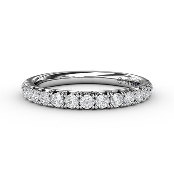 1/2ct French Pave Set Anniversary Band