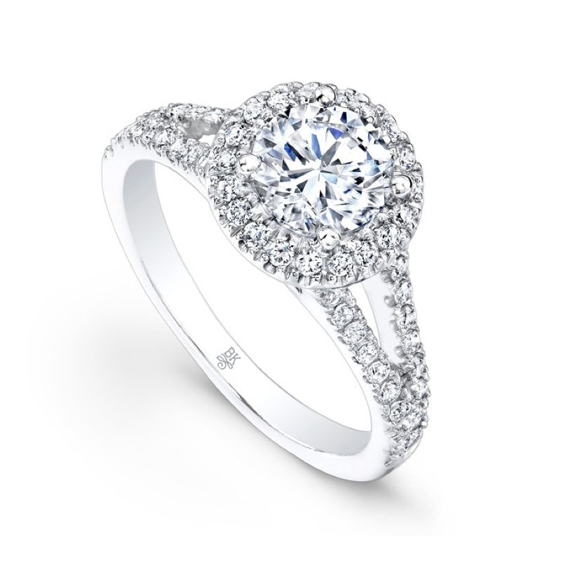 Beverley K Halo Split Shank Bridal Ring