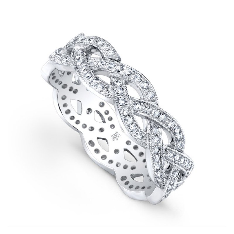 Beverley K Braided Diamond Eternity Band