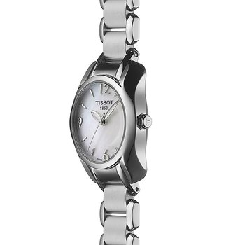 T-Wave Round Women's White Mother Of Pearl Quartz Trend Watch