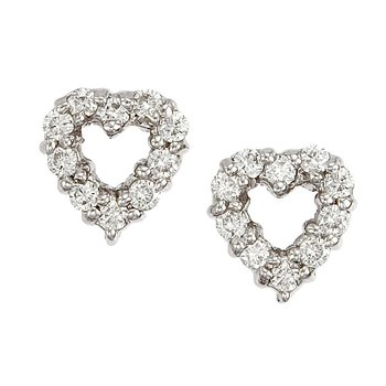 18Kt Gold Diamond Baby Heart Earrings