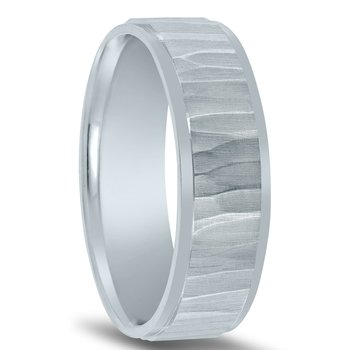 N17196 - Men's Wedding Band with Organic Finish