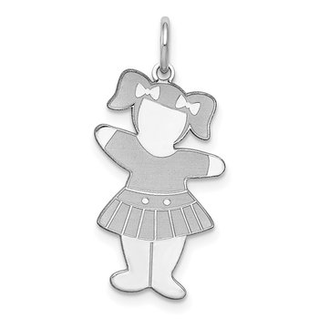 Sterling Silver Rhodium-plated Back to School Cuddle Charm