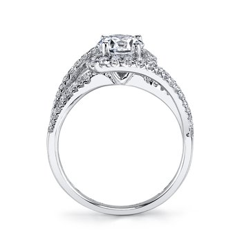 MARS 25666 Diamond Engagement Ring 0.87 Ctw.