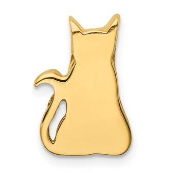 14K Cat Chain Slide