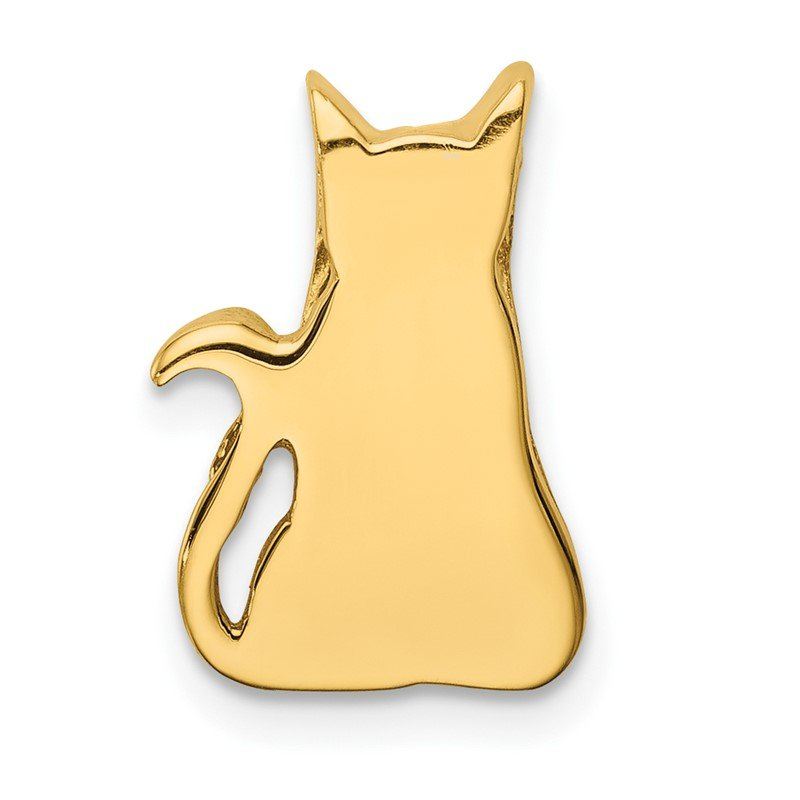Quality Gold 14K Cat Chain Slide