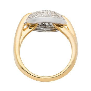 Diamond Two Tone Ring