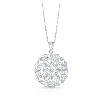 Diamond Filagree Pendant