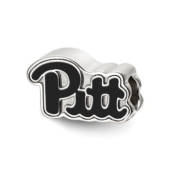 Sterling Silver University of Pittsburgh NCAA Bead