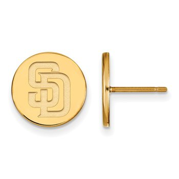 Gold-Plated Sterling Silver San Diego Padres MLB Earrings