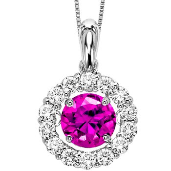 14K Pink Diamond Rhythm Of Love Pendant