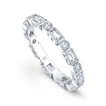 Vintage Baguette and Round Diamond Band
