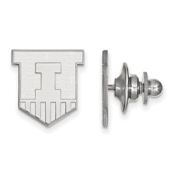 Sterling Silver University of Illinois NCAA Lapel Pin
