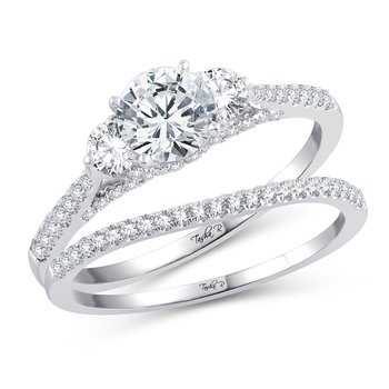 14K 0.66Ct Diam Semi Mont Ring