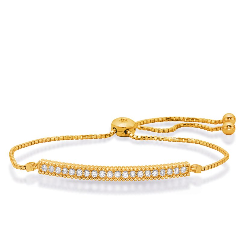 S. Kashi  & Sons Yellow Gold Bolo Diamond Bracelet