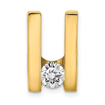 14k AA 5.25mm Diamond Slide