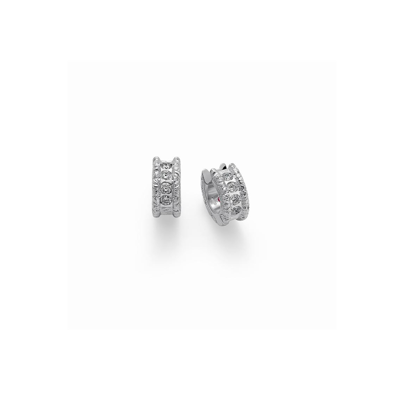 Roberto Coin Cento Florentine Huggie Earrings