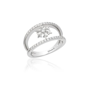 Sterling Silver 1/4CTW Elsa Snowflake Ring
