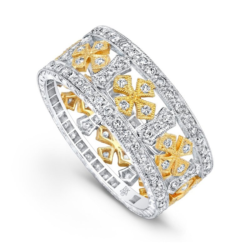 Two-Tone Diamond Cross Band