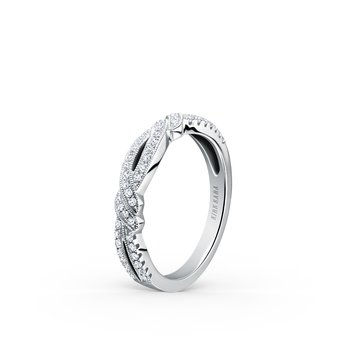 Split Shank Ribbon Diamond Wedding Band