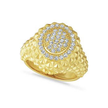 14k domed ring with 42 diamonds 0.60ct