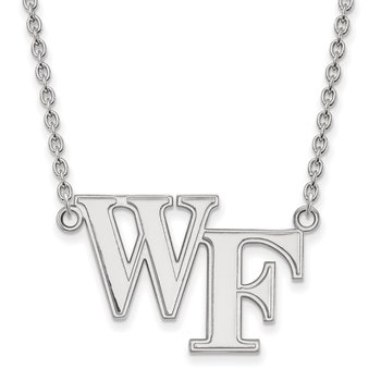Sterling Silver Wake Forest University NCAA Necklace