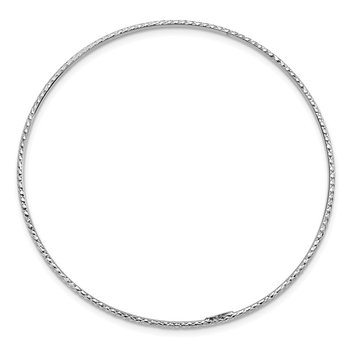 14k 1.5mm White Gold Diamond-Cut Slip-on Bangle Bracelet