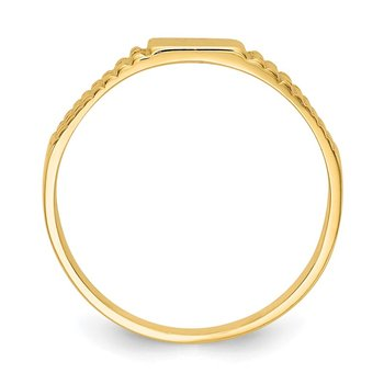 14K Polished Baby Signet Band Ring